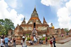 Wat Yai Chai Mongkol in Ayutthaya. Thailand stock image