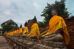 Wat Yai Chai Mongkol Ayutthaya Thailand Azië royalty-vrije stock foto's