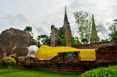 Wat yai chai mongkol. Buddhist monasteries in thailand Ayutthaya Antiques Wat Chaiwatthanaram, one of the most imposing ancient Buddhist monasteries, was stock images