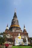 Wat Yai Chai Mongkol (Mongkhon) in Ayutthaya. Royalty Free Stock Photography