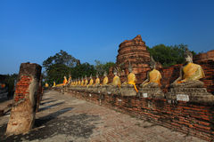 Wat Yai Chai Mongkol Stock Photography