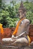 Wat Yai Chai Mongkol tempel, Thailand Fotografering för Bildbyråer