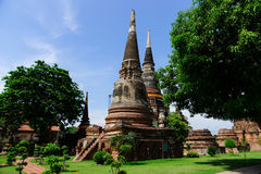 Wat Yai Chai Mongkol Temple Lizenzfreies Stockbild