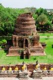 Wat Yai Chai Mongkol Temple Lizenzfreie Stockfotos