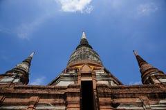 Wat Yai Chai Mongkol Temple imagenes de archivo