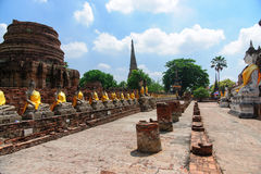Wat Yai Chai Mongkol Temple fotografía de archivo