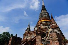 Wat Yai Chai Mongkol Temple fotos de archivo libres de regalías