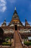 Wat Yai Chai Mongkol Temple foto de archivo libre de regalías