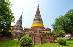 Wat Yai Chai Mongkol- Thailand Stock Fotografie