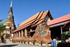 Wat Yai Chai Mongkon Royaltyfri Foto