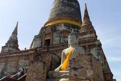 Wat Yai Chai Mongkon Lizenzfreie Stockbilder