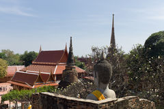 Wat Yai Chai Mongkon Foto de Stock Royalty Free