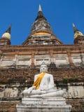 Wat Yai Chai Mongkon in Ayutthaya Stock Photo