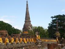 Wat Yai Chai Mongkon in Ayutthaya Royalty Free Stock Images