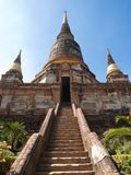 Wat Yai Chai Mongkon in Ayutthaya Royalty Free Stock Images