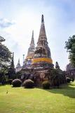Wat Yai Chai Mongkon in Ayutthaya Stock Images