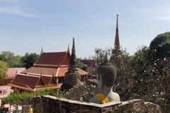 Wat Yai Chai Mongkon. A Buddhist temple in Ayuttata Thailand Royalty Free Stock Photo