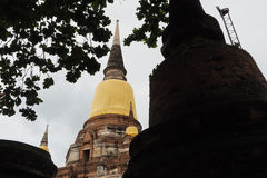 Wat Yai Chai Mongkon. A Buddhist temple in Ayutthaya, Thailand Stock Photos