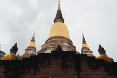 Wat Yai Chai Mongkon, ein buddhistischer Tempel in Ayutthaya, Thailand Stockbild