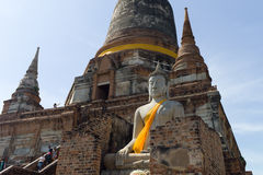 Wat Yai Chai Mongkon. The ruins of Wat Yai Chai Mongkon Royalty Free Stock Images