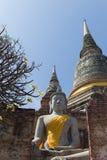 Wat Yai Chai Mongkon Temple en Ayutthaya Imágenes de archivo libres de regalías