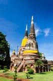 Wat Yai Chaimongkhon, висок в Ayutthaya Таиланде Стоковые Изображения
