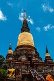 Wat Yai Chaimongkhon, Ayuthaya fotos de stock royalty free
