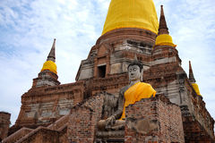 Wat Yai Chaimongkhon, Ayuthaya Immagini Stock