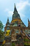 Wat Yai Chaimongkhon in Ayutthaya, Tailandia Fotografia Stock Libera da Diritti