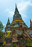 Wat Yai Chaimongkhon in Ayutthaya , Thailand Royalty Free Stock Photo