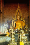 Wat Yai Chaimongkhon Buddha statues Royalty Free Stock Photo
