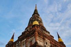 Wat Yai Chaimongkhon o Wat Chao Phraya Thai Imagen de archivo libre de regalías