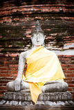 Wat yai chaimongkol Royaltyfri Bild
