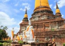 Wat Yai Chaimongkol lizenzfreies stockfoto