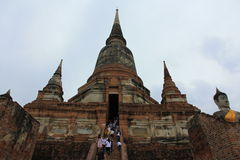 Wat Yai Chaimongkol Stock Afbeelding