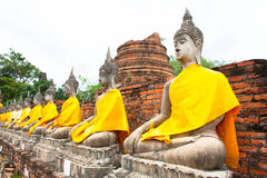 Wat yai chaimongkol Royalty Free Stock Image