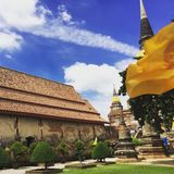 Wat Yai Chaimongkol  Ayutthaya Ταϊλάνδη Στοκ Εικόνα