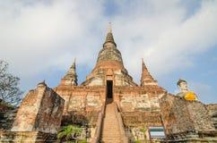 Wat yai chaimongkol in Ayutthaya historical park, Ayutthaya, Tha Royalty Free Stock Photo