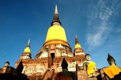Wat Yai Chaimongkol. Ayutthaya, Temple, Buddhism, ruins, artifacts, memories, prosperity, the latter, holy, Thailand Stock Photo