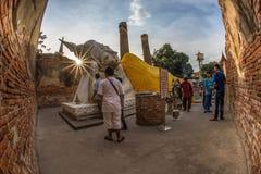 Wat Yai Chaimongkol  Ayutthaya Thaïlande Image stock