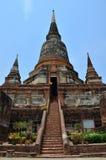 Wat Yai Chaimongkol   Ayutthaya Thailand Royaltyfria Foton