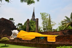 Wat Yai Chaimongkol   Ayutthaya Thailand Fotografering för Bildbyråer