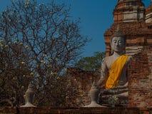 Wat Yai Chaimongkol Ayutthaya ,Thailand. Landmark, religious Royalty Free Stock Photo