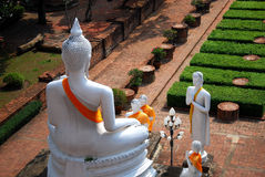 Wat Yai Chaimongkol Tailandia Fotografia Stock Libera da Diritti