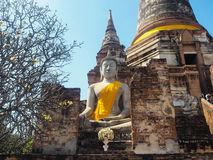 Wat Yai Chaimongkol-Tempel in Ayutthaya Lizenzfreies Stockbild