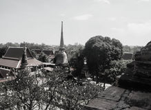Wat Yai Chaimongkol tempel i ayutthaya Royaltyfria Bilder