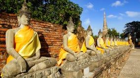 Wat Yai Chaimongkol temple. Ayutthaya Royalty Free Stock Image