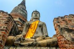 Wat Yai Chaimongkol temple in ayutthaya Stock Photo