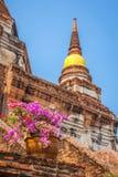 Wat Yai Chaimongkol temple in ayutthaya Thailand Stock Image