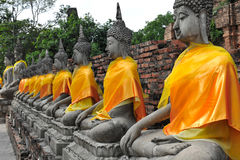 Wat Yai Chaimongkol, Thaïlande de statue de Bouddha Photo libre de droits